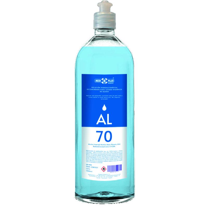 Gel Hidro-alcoólico - Recipiente de 1 litro - Pele sensível - Antalis