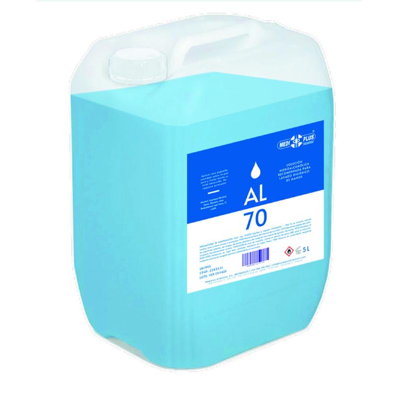Gel Hidroalcoólico - Recipiente de 5 litros - Pele sensível - Antalis