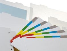 Xerox - Xerox Intercalaires à onglets plastifiés Ordre Inversé